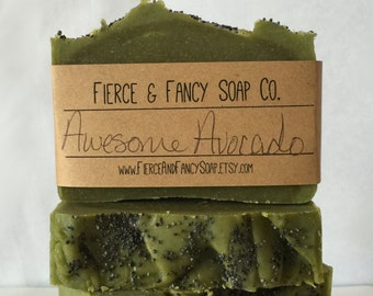 AWESOME AVOCADO SOAP | Cold Process Soap | Handmade | Avocado | *Fierce*