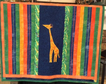Giraffe Quilt for Baby or Toddler