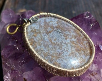 BLISS (Serenity Series Pendant #1) Wire Wrapped Worry Stone