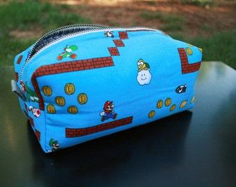 Toiletry Bag - Super Mario Brothers- Nintendo- Original Mario and Luigi- School Supplies - Pencil and Electronics case- Valentine's Day Gift
