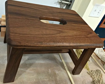 Handcrafted Walnut Step Stool