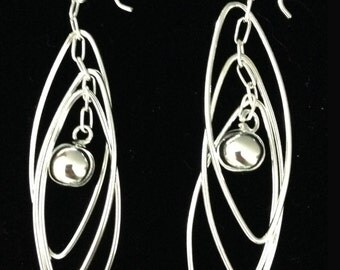 Marquise shaped wirework earrings