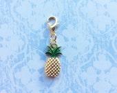 Pineapple gold charm clip on - Planner / Filofax / Midori / Travelers notebook / junk journal / bracelet