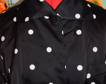 vintage 80s does 50s christian dior polka dot jacket