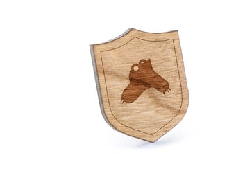 Mole Lapel Pin, Wooden Pin, Wooden Lapel, Gift For Him or Her, Wedding Gifts, Groomsman Gifts, and Personalized