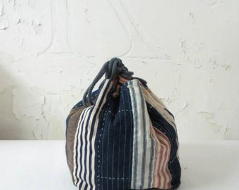 Self-made Japanese Komebukuro Rice Bag boro patch