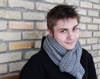 Men's Scarf Crochet Pattern, Easy Crochet Pattern, Dapper Dan Men's Scarf, Crochet Pattern with Instructions in Writing and Pictures PDF