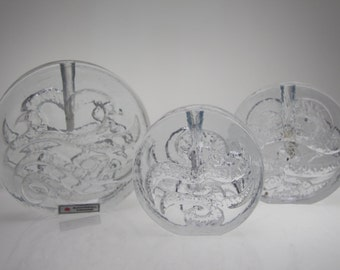3 Solifleur Vases by Ingrid Glashütte Blockvase Budvase stemvase
