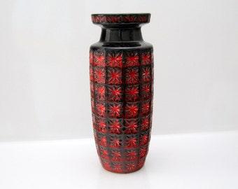 Fantastic Prisma vase by Scheurich West German Pottery, Fat Lava 261-30