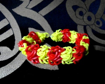 Rainbow loom, loom woven bracelet, bracelet, bracelet, handmade, OOAK, handmade, unique,
