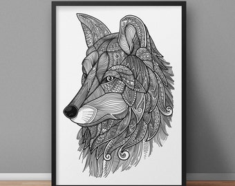Wolf A3 Artwork Limited Edition Print