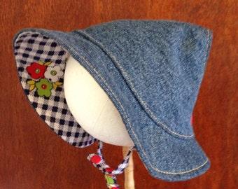 Baby Sun Hat, Toddler Adjustable Sun Bonnet