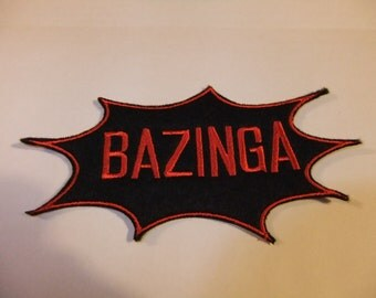 BAZINGA Patch Big Bang Theory Sheldon Cooper Biker Team
