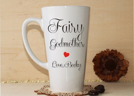 Godmother Gift Goddaughter Gift Long Distance Gift: Fairy Godmother Gift-Fairy Godmother Mug-Christening