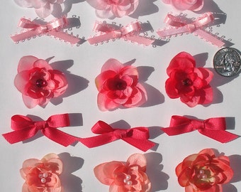 Inspiration Embellishment Kit Silk Flowers Hair Bows Accessories Hats Scrapbooking Needlecrafts Home Decor