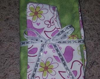 Gift Set - 2 Burp Cloths and Bib