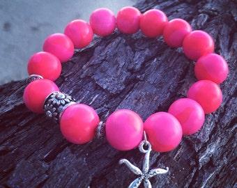 So Pink! Polymer Clay Bracelet