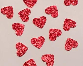200 Red Heart Confetti Valentine Confetti Heart Confetti Glitter Confetti Shower Confetti Baby Confetti Wedding Confetti Birthday Confetti