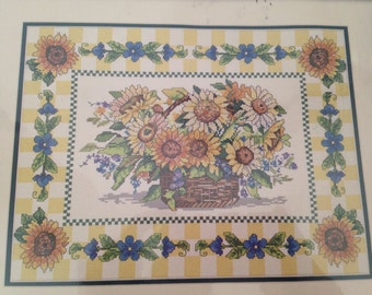 Needle Treasures Borderlines Counted Cross Stitch Sunflower Basket #03056