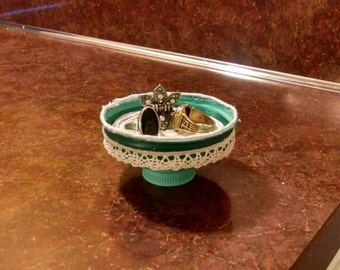 Handmade Ring Dish made from upcycled materials