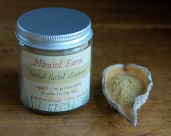 Organic Herbal Facial Cleanser. Exfoliating Complexion Scrub for Normal to Oily Skin. No Preservatives.
