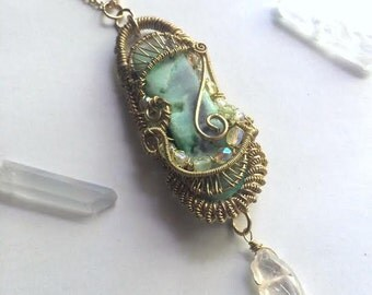 Chrysoprase Personal Power Pendant