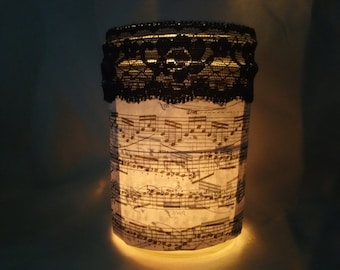 Sheet Music Candle Holder