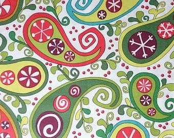 Andover Fabrics Paisley Snow Day Cotton Fabric by Kim Schaefer