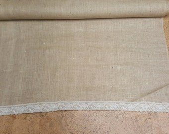 Burlap Aisle Runner with Lace