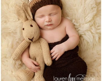 Knitted Bunny Rabbit - Photo Prop - Stuffed Bunny - Stuffed Animal - Soft Toy -