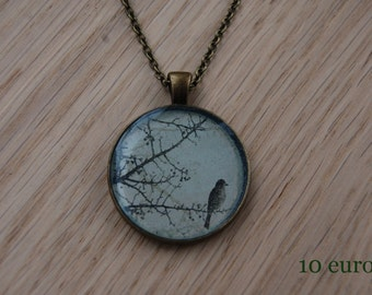 Bronze bird necklace