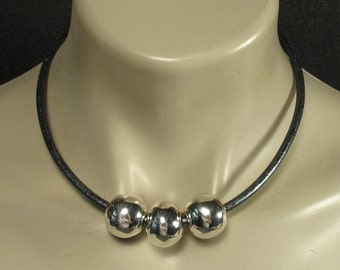 Leather Ball Necklace