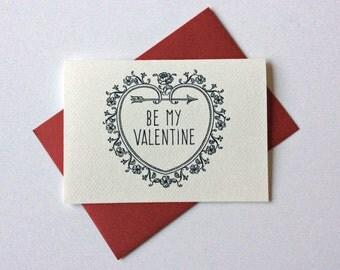 BE MY VALENTINE red envelope card