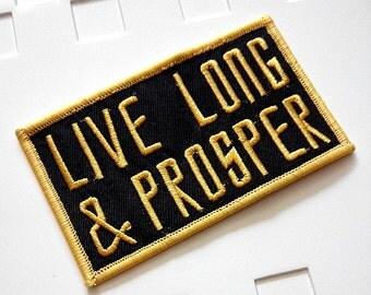 Live Long & Prosper Star Trek Iron On Patch