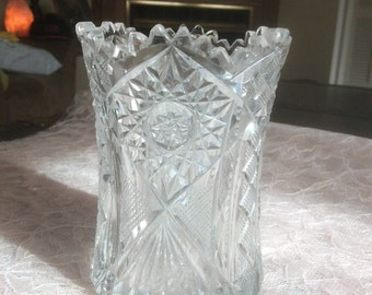 Cut Glass Celery Vase