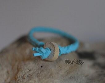 Aromatherapy Bracelet, Turqoise Suede Bracelet, Driftwood Bracelet