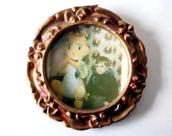 Creepy Old Photograph with Frame