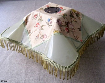 Beautiful old Lampshade paper, tissues and in plastique.made France.vintage.luminaire lighting. flea market