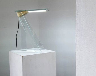Modern & Minimal Desk Lamp | Glass and Brass