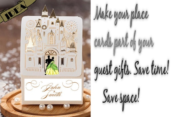Disney wedding candy gift favor boxes Tiana & Frog Prince /pkg