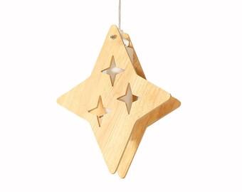 One Star Pendant lighting-Decor Star Lighting-Ceiling Lights-Wooden Lights-Studying room lighting-Baby room Lighting-Childern Lightings