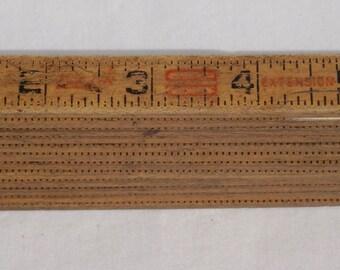 Vintage Luftin Red letter extension  folding ruler 6ft