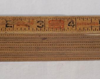 Luftin Red letter wooden extension folding ruler 6ft, home improvement, wooden ruler, measuring stick, vintage home repair