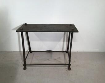 Victorian Vintage Wrought Iron Blacksmiths' Table