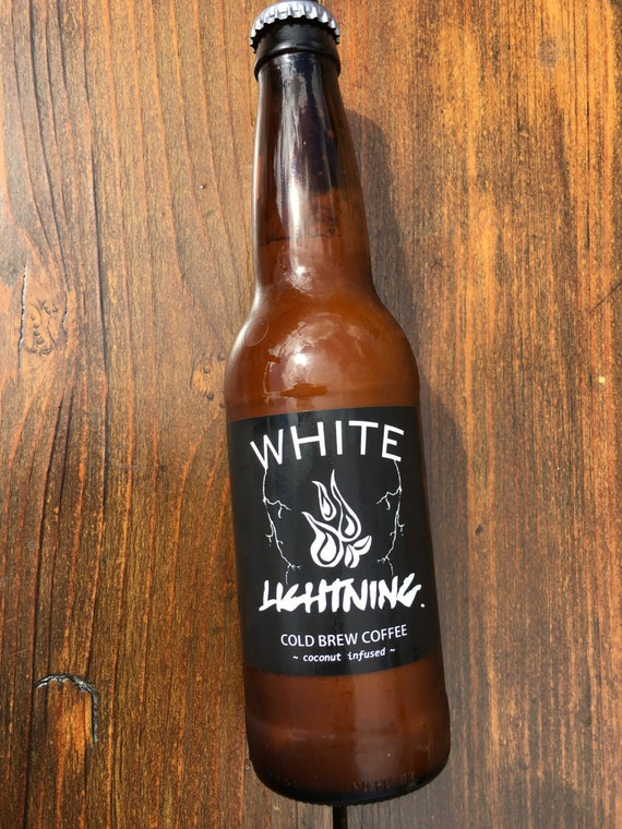 White Lightning Cold Brew Coffee infused with coconut