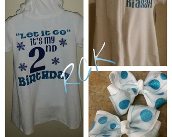 Frozen Inspired Swim Cover with 2 matching bows