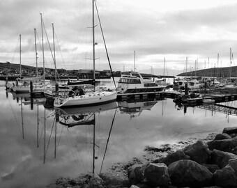 Dingle Marina Reflections in Kerry Ireland