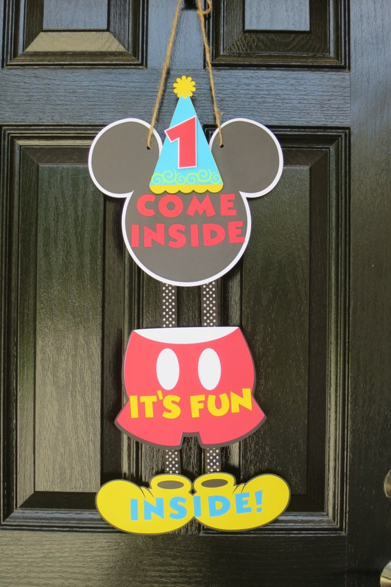 Mickey Mouse Theme Door Sign Free Us Shipping Mickey Mouse