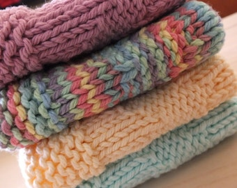 Dishcloths / Washcloths - Knitted Set of 4