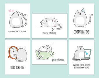 postcard set - kitty cat